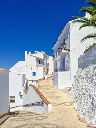 frigiliana: White houses and blue sky of Andalusia. Frigiliana Spain.