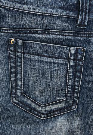 denim jeans: Closeup of blue denim jeans pockets. Stock Photo