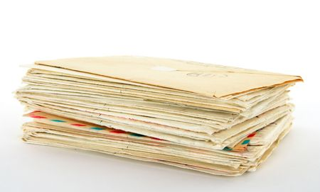 old letters: Stack of old letters.
