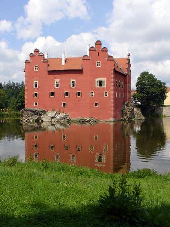 Cervena (Red) Lhota Castle, Southern Bohemia, Czech republic Stock Photo