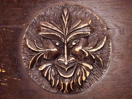 Laughing fant�me sur la porte, Marianske Lazne, R�publique tch�que