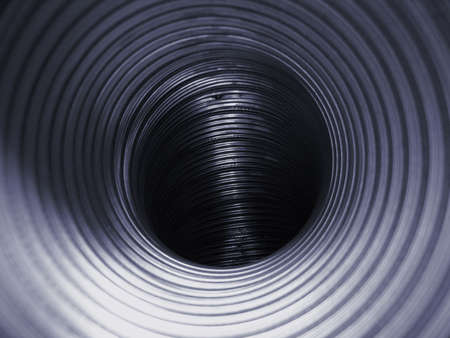 Interior of a steel air tube