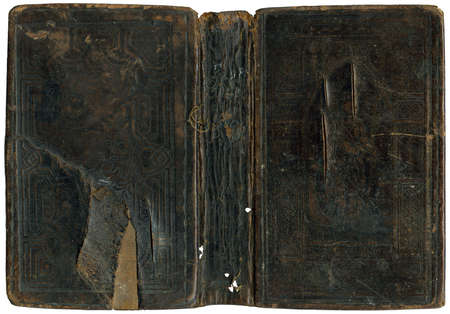songbook: Old damaged book cover - circa 1880