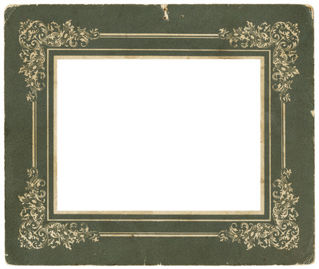 Antique photo frame - circa 1900 - perfect in detail Stock Photo