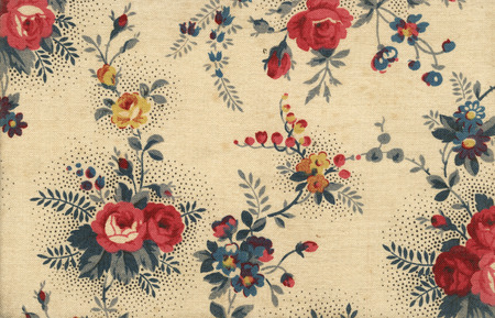Old canvas wallpaper with floral ornaments - perfect in detail Stock Photo