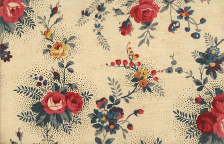 Vieux papier peint sur toile avec des ornements floraux - parfait en d�tail Banque d'images