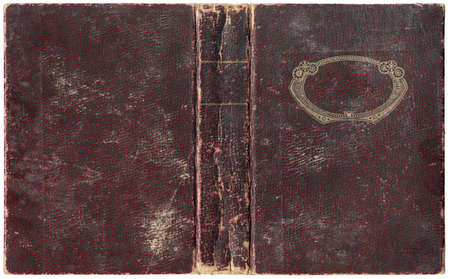 abstracto: Old open book cover - circa 1918 - isolated on white - perfect details - xl size Stock Photo