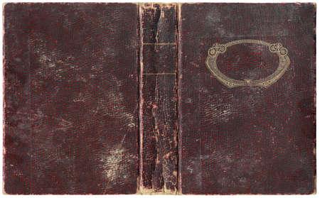 Vieille couverture de livre ouvert - circa 1918 - isol� sur blanc - d�tails parfaits - taille xl