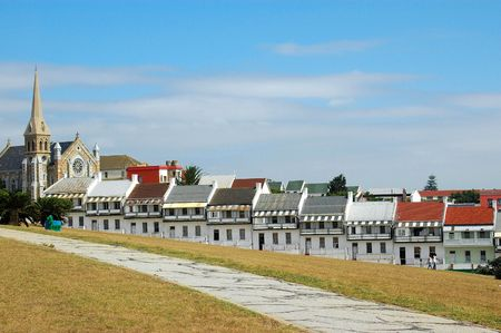 elizabeth: The famous houses of Donkin Street in the city of Port Elizabeth - Eastern Cape province in South Africa