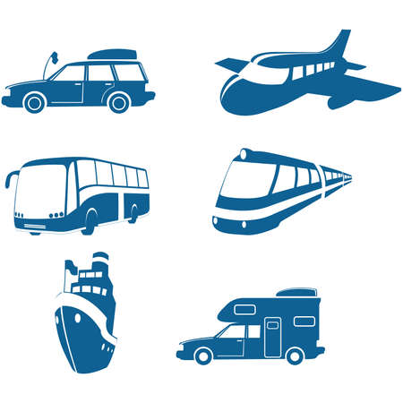 Transport & Travel icons Vector