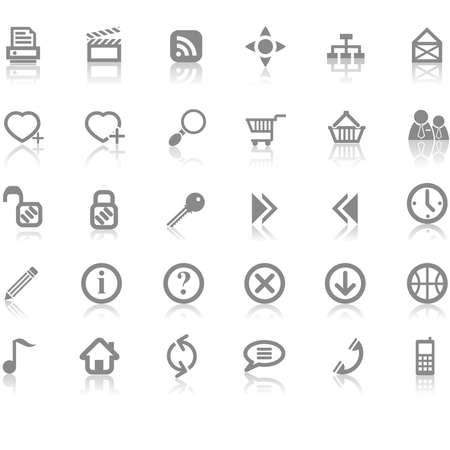 Web site and Internet icon set Vector