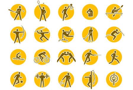 canoeing: Summer sports icon set Illustration