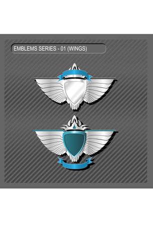 EMBLEMS SERIES 01 - WINGS Vector