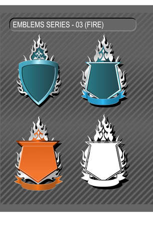EMBLEMS SERIES 03 - Fire and Flame Vector