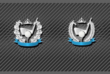golf stick: Golf emblema  Vectores