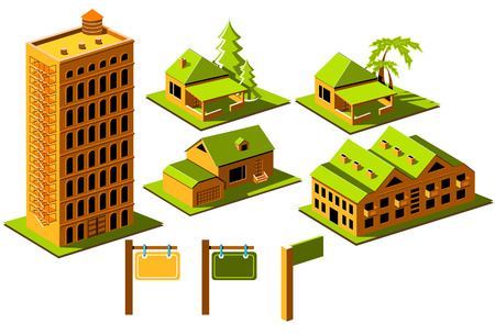 Real Estate icon set Stock Illustratie