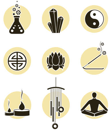 Spirituality icon set Stock Vector - 2989219