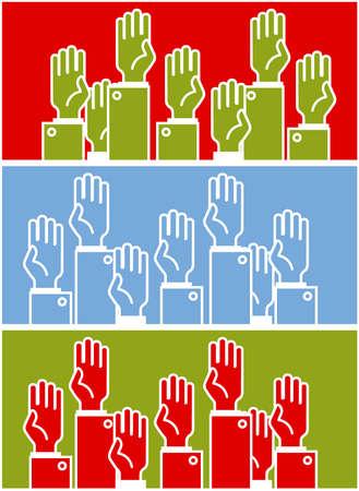 demographic: Voto gruppo di persone - simbolico umano  's mani