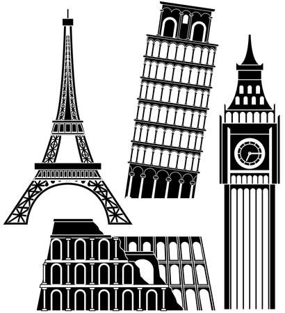 sights of the world series - Europe Vector