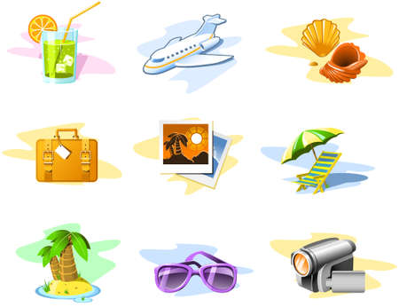 Travel and Vacation icons: Set 02