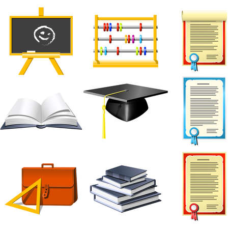 workbook: Education and School icons set