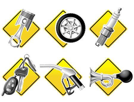 Automobile and Racing icons - part one Stock Vector - 3587469