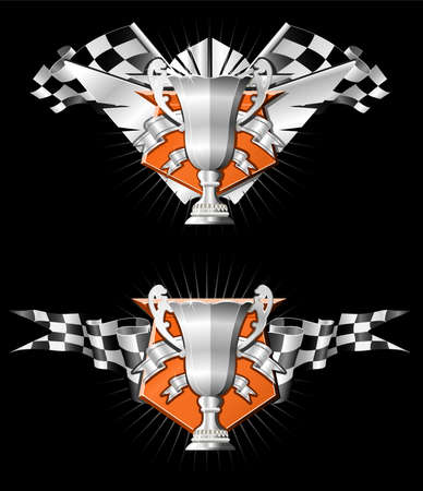 RACING EMBLEMS SERIES Stock Illustratie