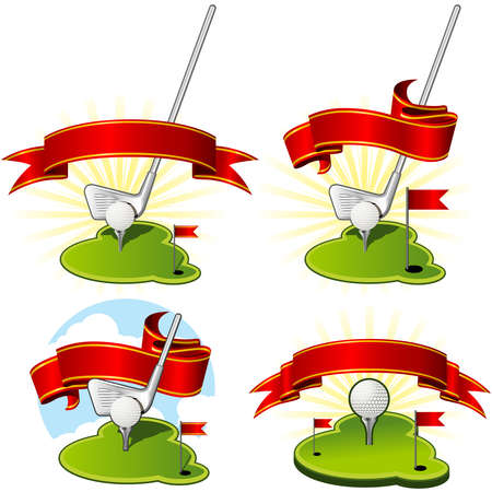 Blank Golf emblems for clubs and competitions Vector