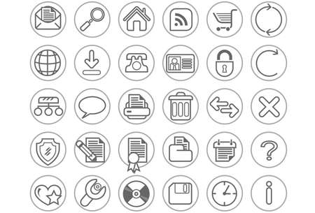 Website en internet icon set