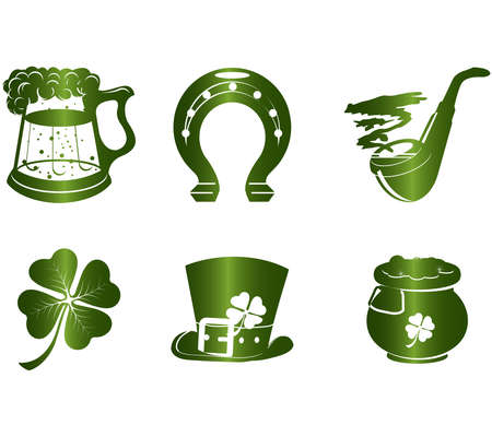 St. Patrick's Day icon set Stock Vector - 5213197