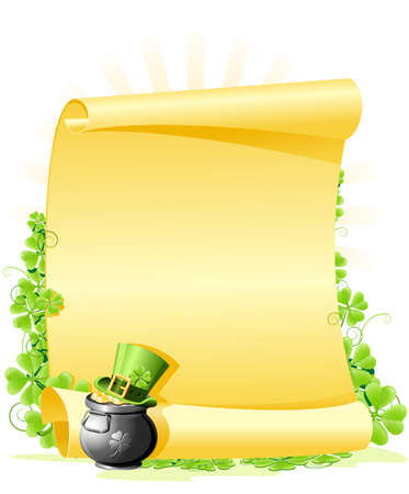 clovers: St. Patricks Day blank Letter Illustration