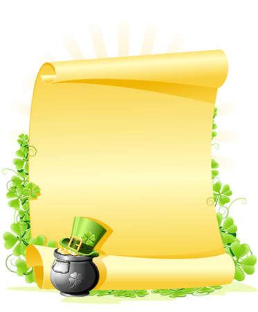 irland: St. Patrick's Day leer Schreiben Illustration