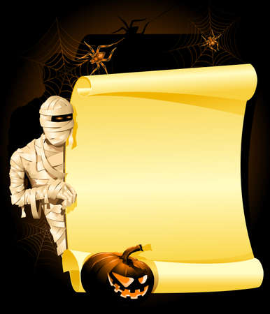 mummified: Halloween Invitation Illustration