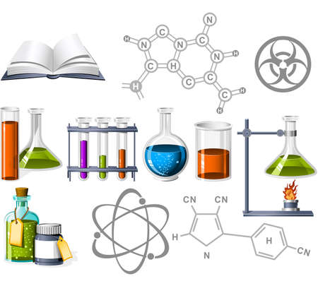 Science and Chemistry Icons Stock Vector - 5390591