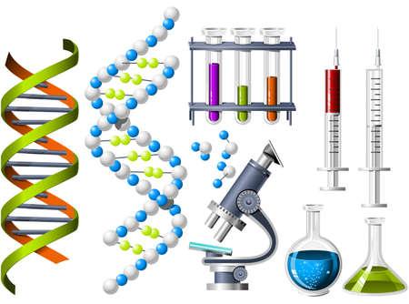 g�n�tique: La science et de la g�n�tique des ic�nes Illustration