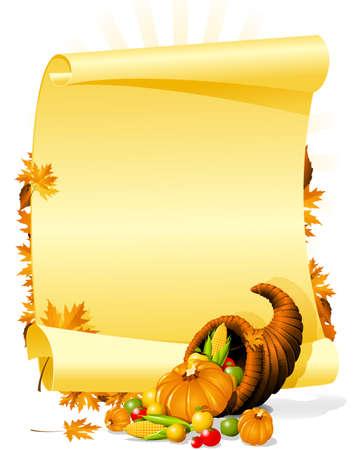 accion de gracias: Blanco invitaci�n banquete de acci�n de gracias Vectores