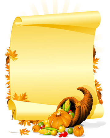thanksgiving: Blank thanksgiving banquet invitation Illustration