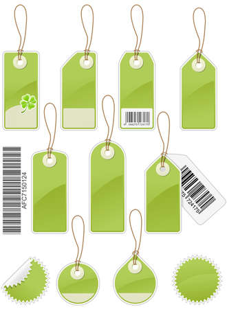 Set of Price tags in different shapes  Vector