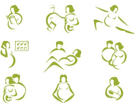 prenatal: Prenatal and childbirth  Illustration