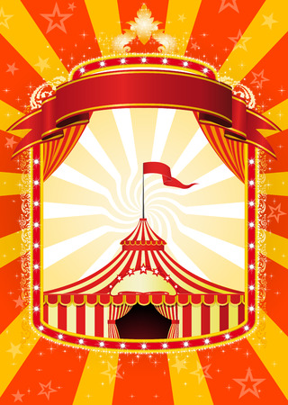 entertainment tent: Circus poster Illustration