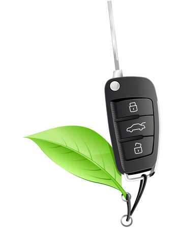 burglar alarm: Electric Car Key Illustration