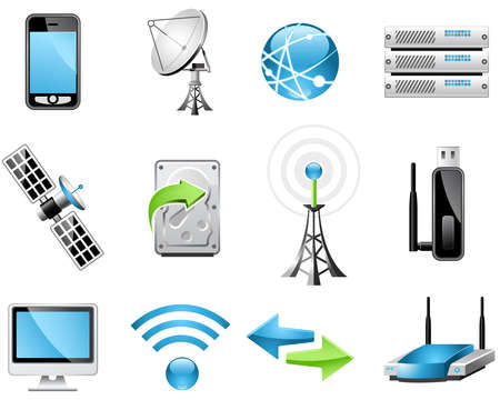 antena parabolica: Iconos de tecnolog�a inal�mbricas