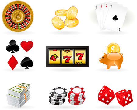 rouleau: Gambling Icon set