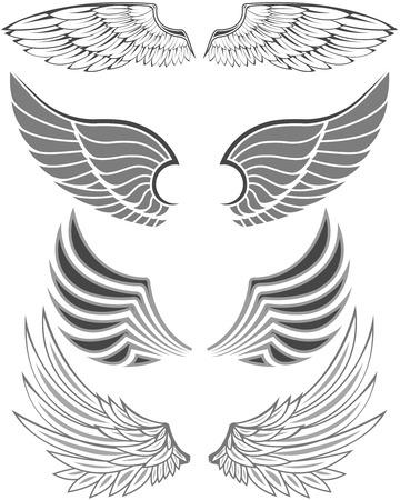 angel silhouette: Wings Illustration