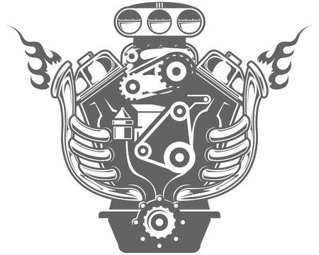 motor racing: Motor de carreras Vectores