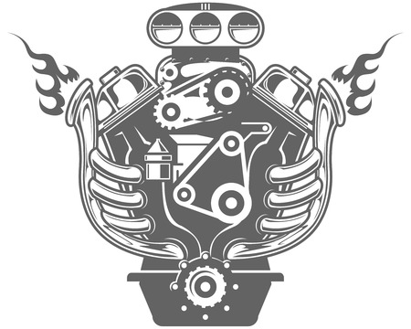 Racing engine Illustration