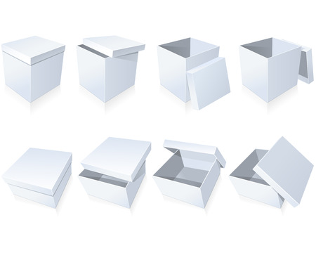 Blank cardboard boxes Illustration