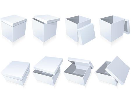 closed box: Blank cardboard boxes Illustration