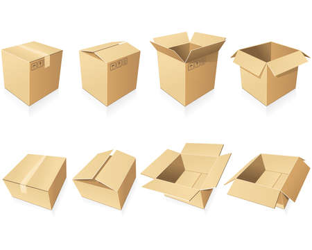 packing boxes: Blank cardboard  boxes