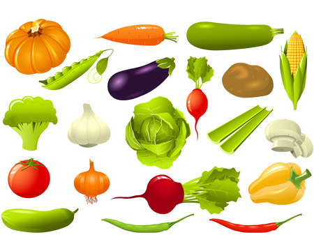 vegatables: Set of vegetables